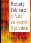 Jossey-Bass,.Measuring Performance in Public and Nonprofit Organizations.[2003.ISBN078794999X]