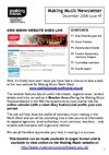 Making Music NW Newsletter - December 2008 - Issue 47