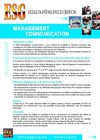 Plaquette MANAGEMENT &amp; COMMUNICATION - ESG Marrakech