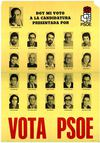 CARTEL ELECTORAL PSOE BENIDORM PRIMERAS MUNICIPALES