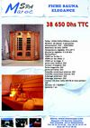 Fiche MAROC SAUNA ELEGANCE