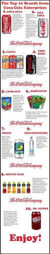 Infographic :: The Top 10 Brands from Coca-Cola Enterprises