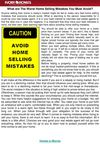 What Are The Worst Home Selling Mistakes You Must Avoid