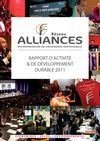Rapport d&#039;Activit et Dveloppement Durable Rseau Alliances 2011