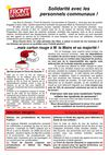 Tract de soutien aux personnels communaux