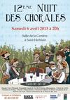 NUITE DES CHORALES - PROGRAMME 2013