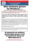 Du mieux pour la Police 