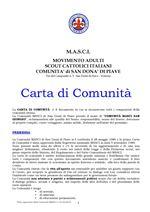 Carta di comunità del MASCI