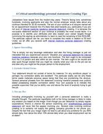 Anesthesia Personal Statement, Sample Anesthesia Residency