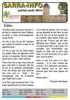Sarra Info Juillet-Aout 2014 : Le Sarra info de l'été